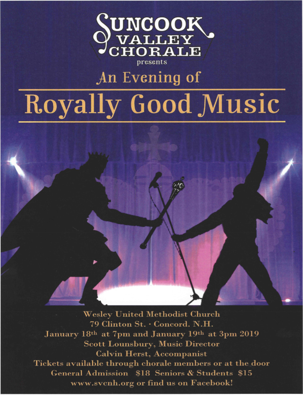 January 2019 Concert Poster